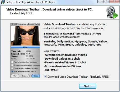 Free video download toolbar.